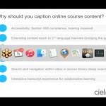 education video captions