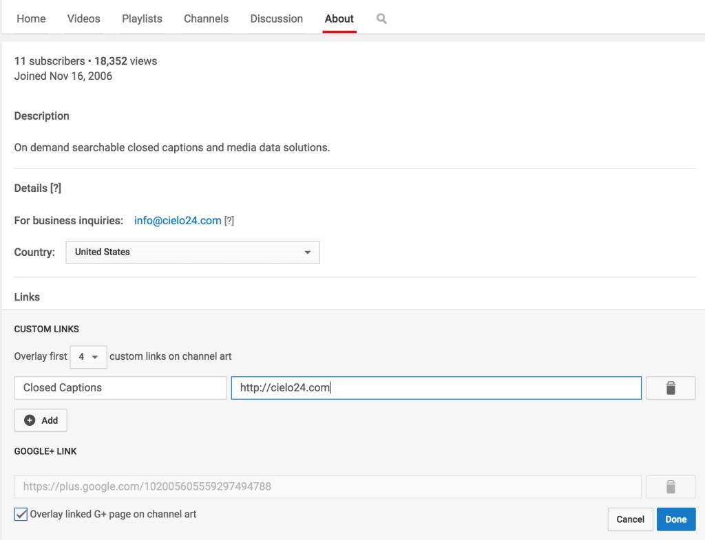 add-website-youtube