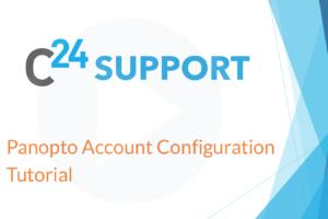 Panopto Account Configuration Tutorial