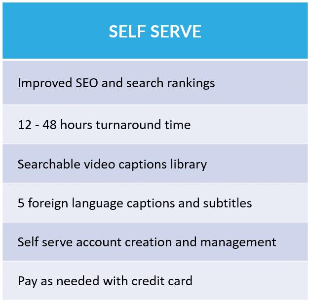 cielo24 Self Serve