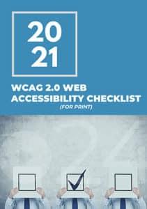 WCAG 2.0 Web Accessibility Checklist Ebook Cover