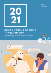 cielo24 eBook COVER - Human vs Machine Transcription