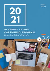 cielo24 eBook COVER - Planning an EDU Captioning Program Checklist